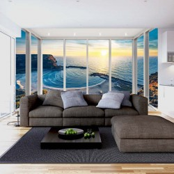Photo mural sea scenery Bay Bolata French window bright