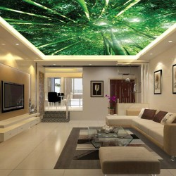 Wallpaper Mural bamboo forest view from below ceiling