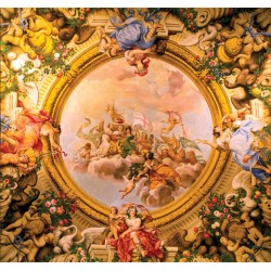 Wallpaper Mural with angels classics ceiling
