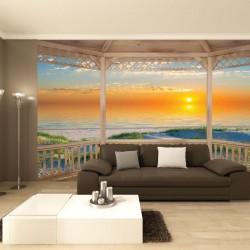 Wallpapers mural beautiful sea dunes at sunrise verada