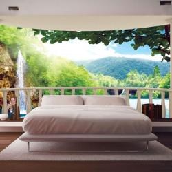 Wall murals ellipse terrace waterfall