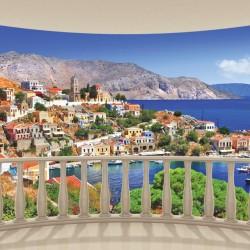 Wall murals seascape from terrace ellipse