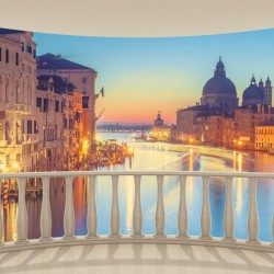 Wall murals beautiful night view from the terrace in Venice