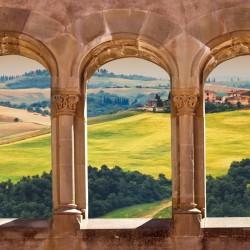 Wallpapers mural  views Toscana across antique columns