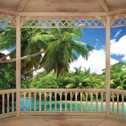Photo mural beautiful tropical bay terrace view