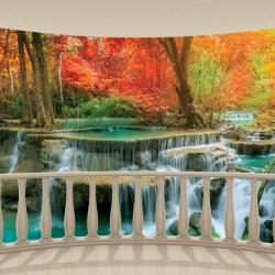 Wallpapers mural terrace lovely flower forest waterfalls