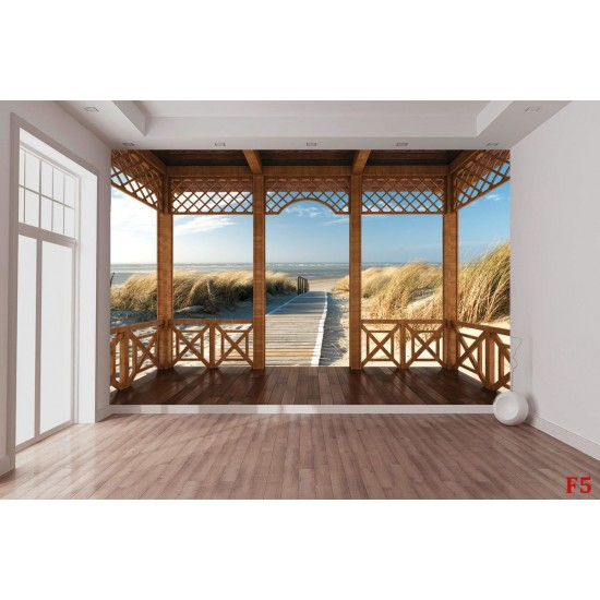 Wallpeper path dunes beach terrace 2 options