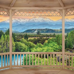 Wallpapers mural wooden terrace nature view