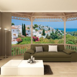 Wallpapers mural terrace with a beautiful view of Spain