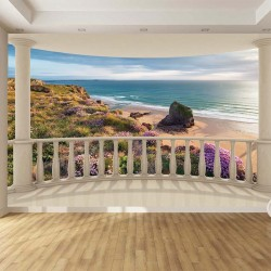 Wallpapers view through the sea-view terrace