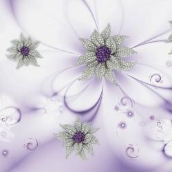 Wall murals diamond flower gently purple background