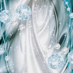 Wall murals 3d abstract diamonds in 2 colors