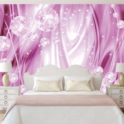 Wall murals 3d abstract diamonds in pink