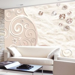 Wall murals ornaments with scattered diamonds