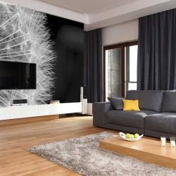 Photo mural big black dandelion