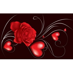 Wallpapers mural abstract red rose