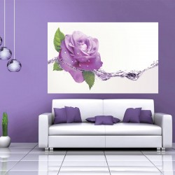 Wallpapers purple rose with water elements