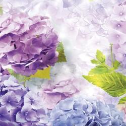 Photo mural delicate hydrangeas in purple range
