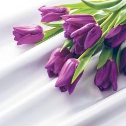 Photo mural purple tulips bunch of satin based