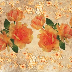Wallpapers Vintage composition with orange roses