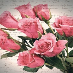 Wallpapers mural bouquet of roses vintage inscriptions