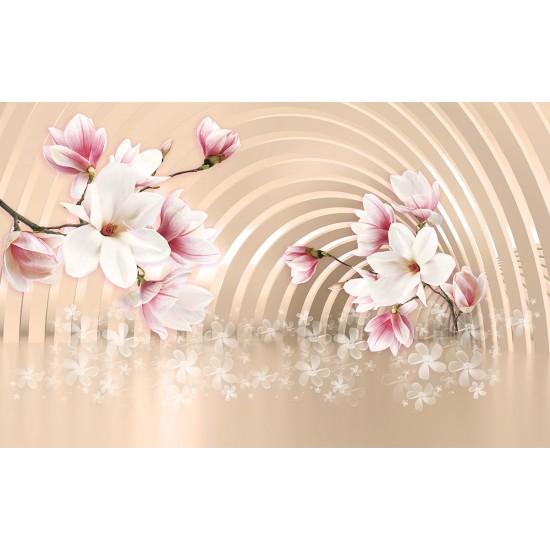 Magnolia beautiful twig 3d tunnel