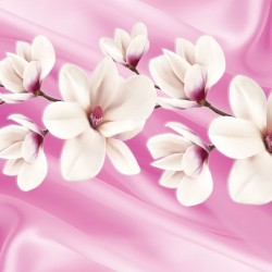 Photo Wall murals twig magnolia on silk background 2 colors