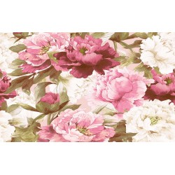 Wallpapers painted bouquet pink peonies