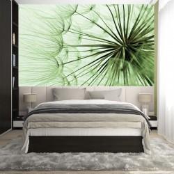 Photo mural big green dandelion new model