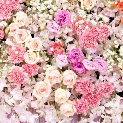 Wallpapers wall-colored bouquet of different small flowers