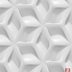 Photo mural 3D geometric white wall shapes