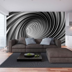 Wallpapers mural grey spiral 2