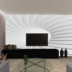 Photo murals white-gray spiral