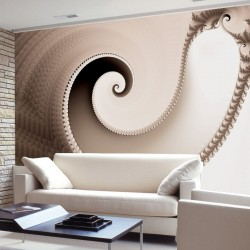 Wallpapers mural elegant spiral in color cappuccino