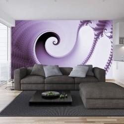 Wallpapers mural elegant spiral in color violet