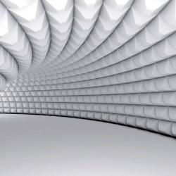Wall murals modern spiral tunnel