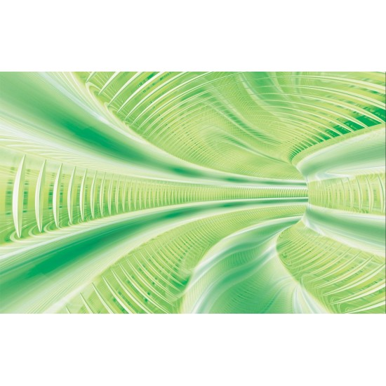 Photo mural 3D effect a tunnel spiral in 3 colors