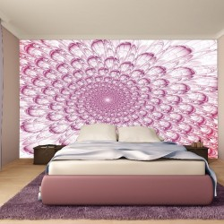 Wall murals abstract fan in pink