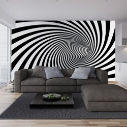 Photo mural 3D effect black spiral