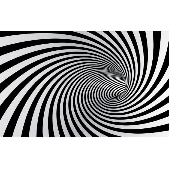 Photo mural 3D effect black spiral