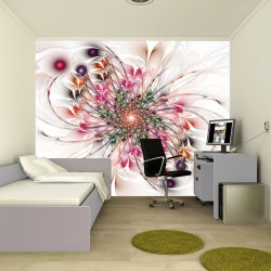 Wall mural abstraction multicolor