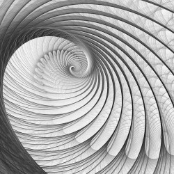 Wall murals modern spiral in grey 2