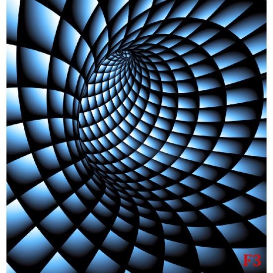 Photo mural 3D effect a tunnel spiral