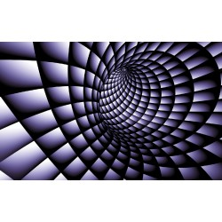 Photo mural 3D effect a tunnel spiral