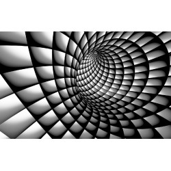 Photo mural 3D effect a tunnel spiral black and white
