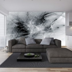 Wallpapers mural black and white smoke
