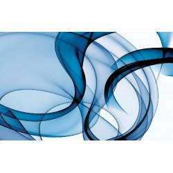 Wall mural waves in blue