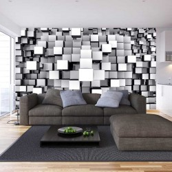 Wall murals 3D abstract geometric cubes 1