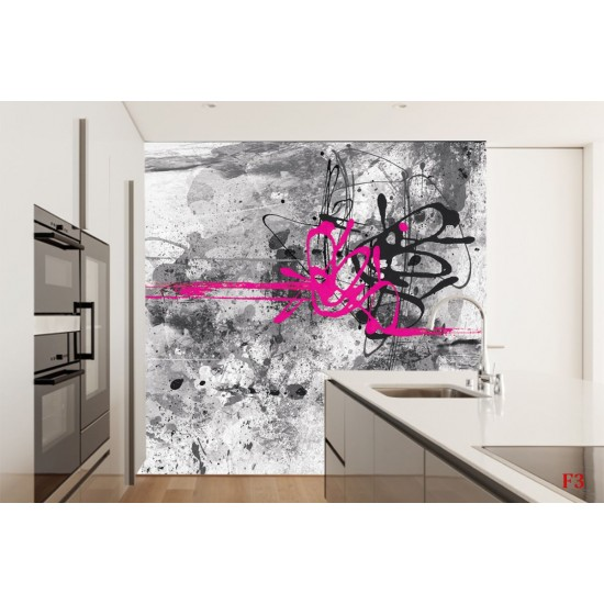Photo art mural gray graphics in 2 versions