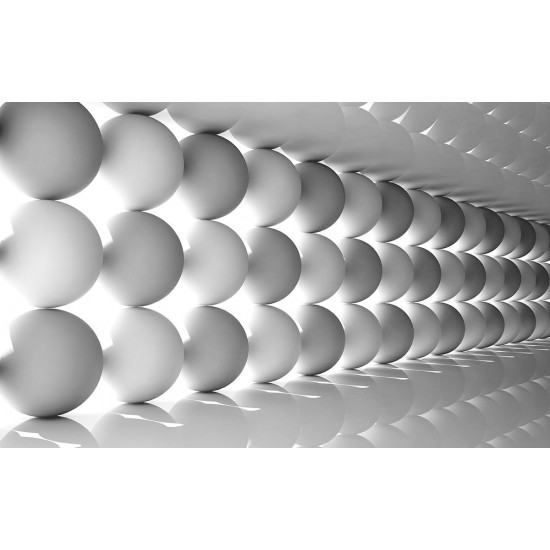 Photo mural 3D spheres abstract located